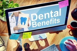 Dental benefits on computer screens